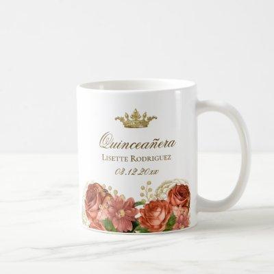 Royal Floral Quinceanera Coffee Mug