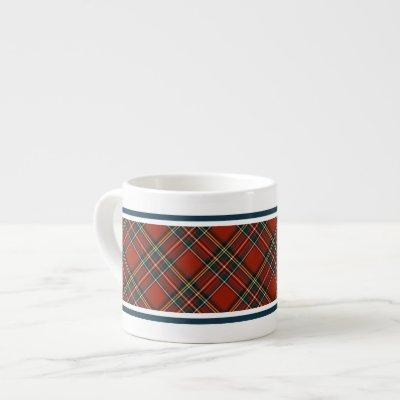 Royal Stewart Classic Red Scottish Tartan Espresso Cup