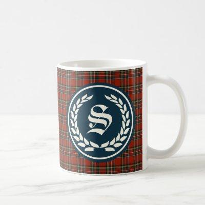 Royal Stewart Tartan Monogram Coffee Mug