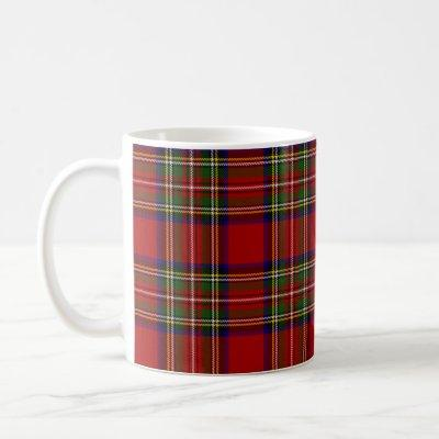 Royal Stewart Tartan Plaid Scottish Pattern Coffee Mug