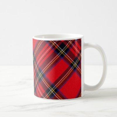 Royal Stewart tartan red and black plaid Coffee Mug