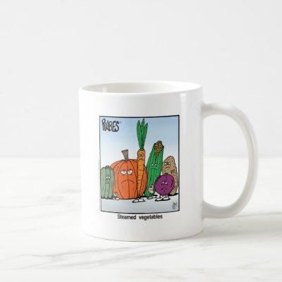 Rubes Cartoons Classic Steamed Vegetables Coffee Mug