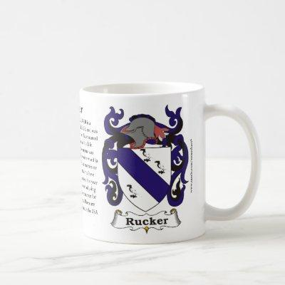 Rucker Family Coat of Arms Mug