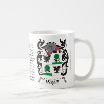Ruiz Family Coat of Arms Mug