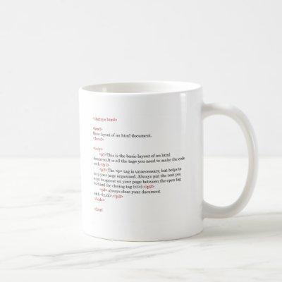 rules of html coffee mug