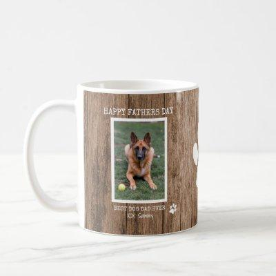 Rustic Best Dog Dad Ever Photo Father's Day Coffee Mug
