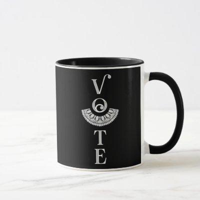 Ruth Bader Ginsburg Lace Collar Vote Mug