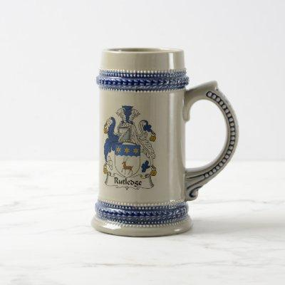 Rutledge Coat of Arms Stein - Family Crest