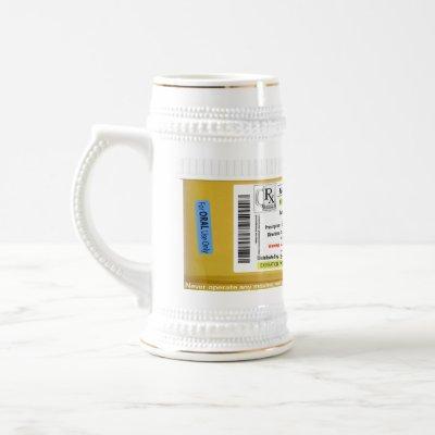 RX Prescription Beer Mug CustomizeAbles