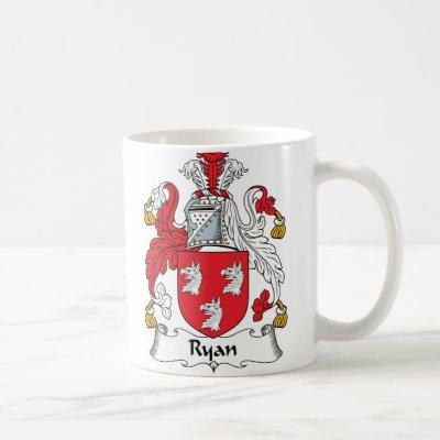 Ryan Family Crest Coffee Mug