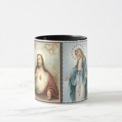 Sacred Heart of Jesus Blessed Mother Mug