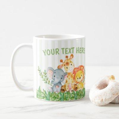 Safari Zoo Animal Mug