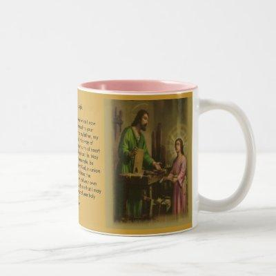 Saint Joseph Prayer Two-Tone Coffee Mug