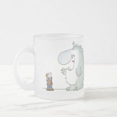 Salesmanship begins when the customer says no frosted glass coffee mug