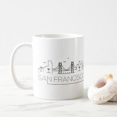 San Francisco Stylized Skyline Coffee Mug
