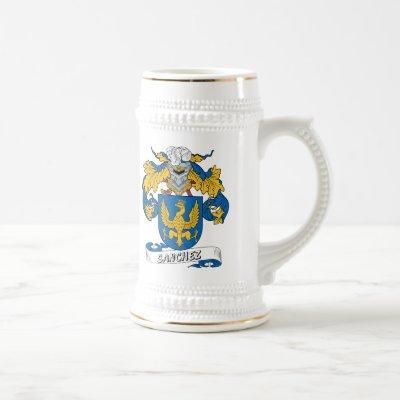 Sanchez Family Crest Beer Stein