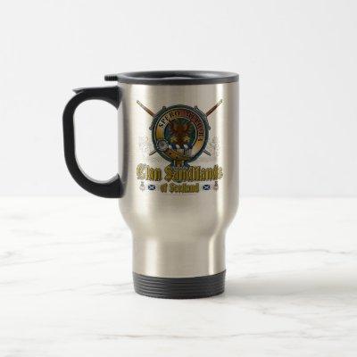 Sandilands Clan Badge Travel Mug