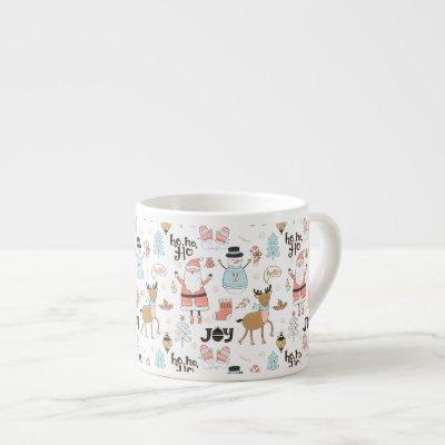 Santa, Snowman, Reindeer Pattern ID559 Espresso Cup