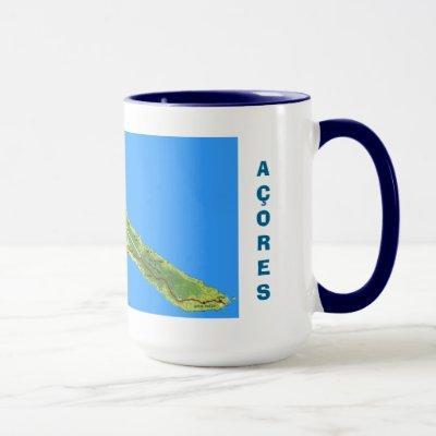 Sao Jorge Azores Map Mug