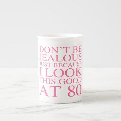Sassy 80th Birthday For Women Bone China Mug