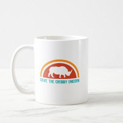Save The Chubby Unicorn Coffee Mug