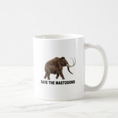 Save the mastodons coffee mug