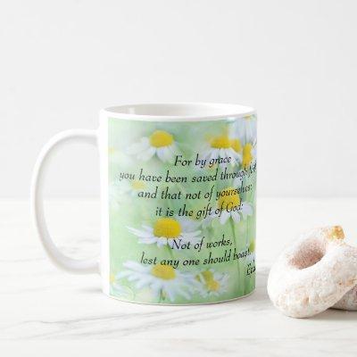 Saved by Grace - Ephesians 2:8,9 Coffee Mug