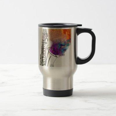 Saxophone Healing Travel Mug