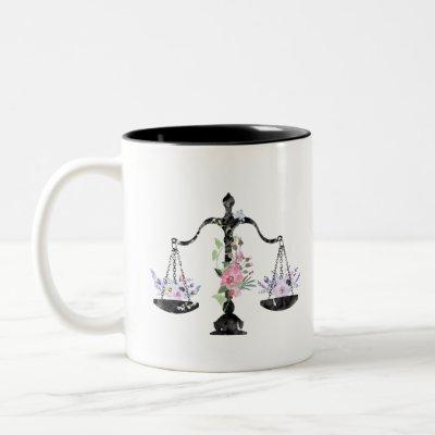Scales of Justice Art Two-Tone Coffee Mug