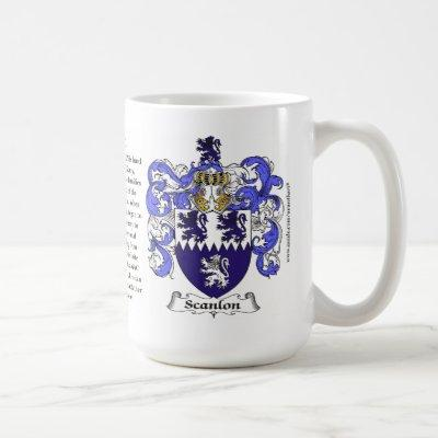 Scanlon, the Origin, the Meaning and the Crest Coffee Mug