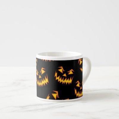 Scary Halloween Faces Espresso Cup