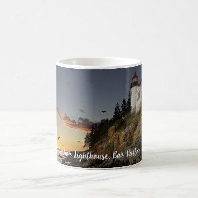 Scenic Bar Harbor Lighthouse Coffee Mug