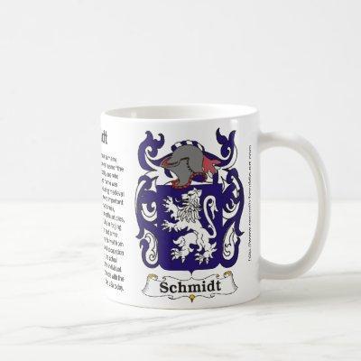 Schmidt Family Coat of Arms Mug