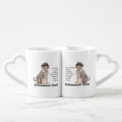 Schnauzer Mom/Dad Mug Set