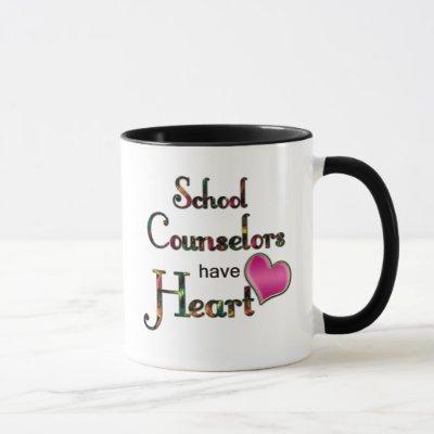 School Counselors Have Heart Mug