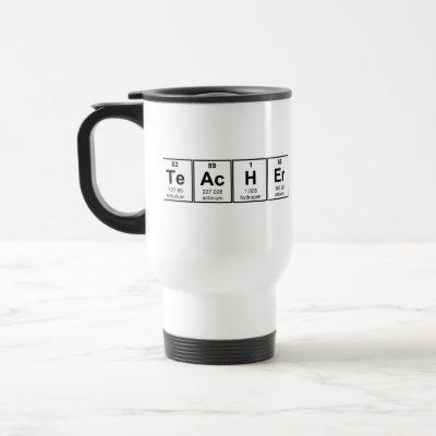 Science Teacher Chemical Elements Travel Mug