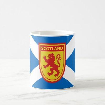 Scotland Lion Rampant Shield Mug