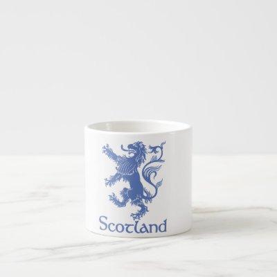 Scotland Rampant Lion Mug, Scottish Heritage Espresso Cup