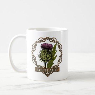 Scotland Scottish Thistle Celtic Knots Proverb Coffee Mug