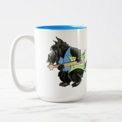 Scotties Rock Guitar Rocker Mug