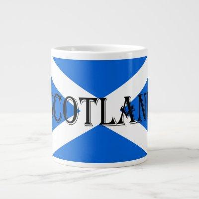 Scottish Flag Scotland Jumbo Mug arc