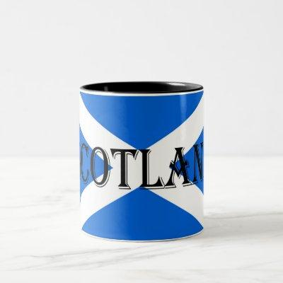 Scottish Flag Scotland mugcn Two-Tone Coffee Mug