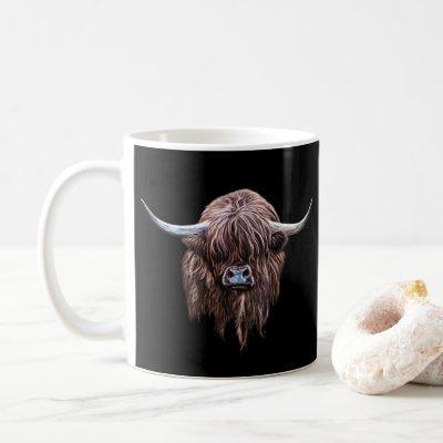 Scottish Highland Cow In Colour Coffee Mug