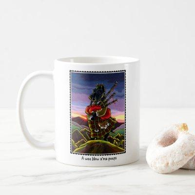 Scottish Terrier Bagpipes Coffee Mug