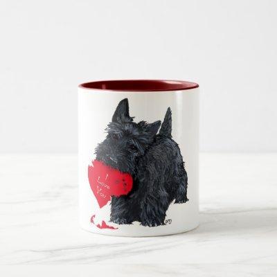 Scottish Terrier Valentine Two-Tone Coffee Mug