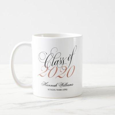 Script Rose Gold Class of 2020 Graduation Coffee Mug