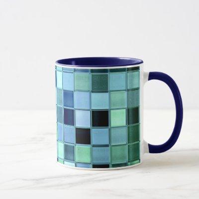 SeaGlass Tile custom mug in various styles