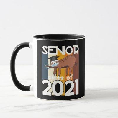 Senior Class of 2021 Sloth Quarantine Graduation Mug