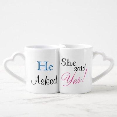 She said yes! Mug