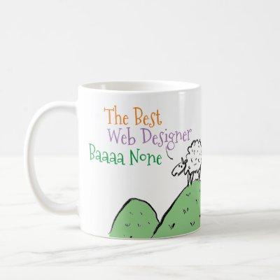 Sheep Design for a Web Designer Coffee Mug